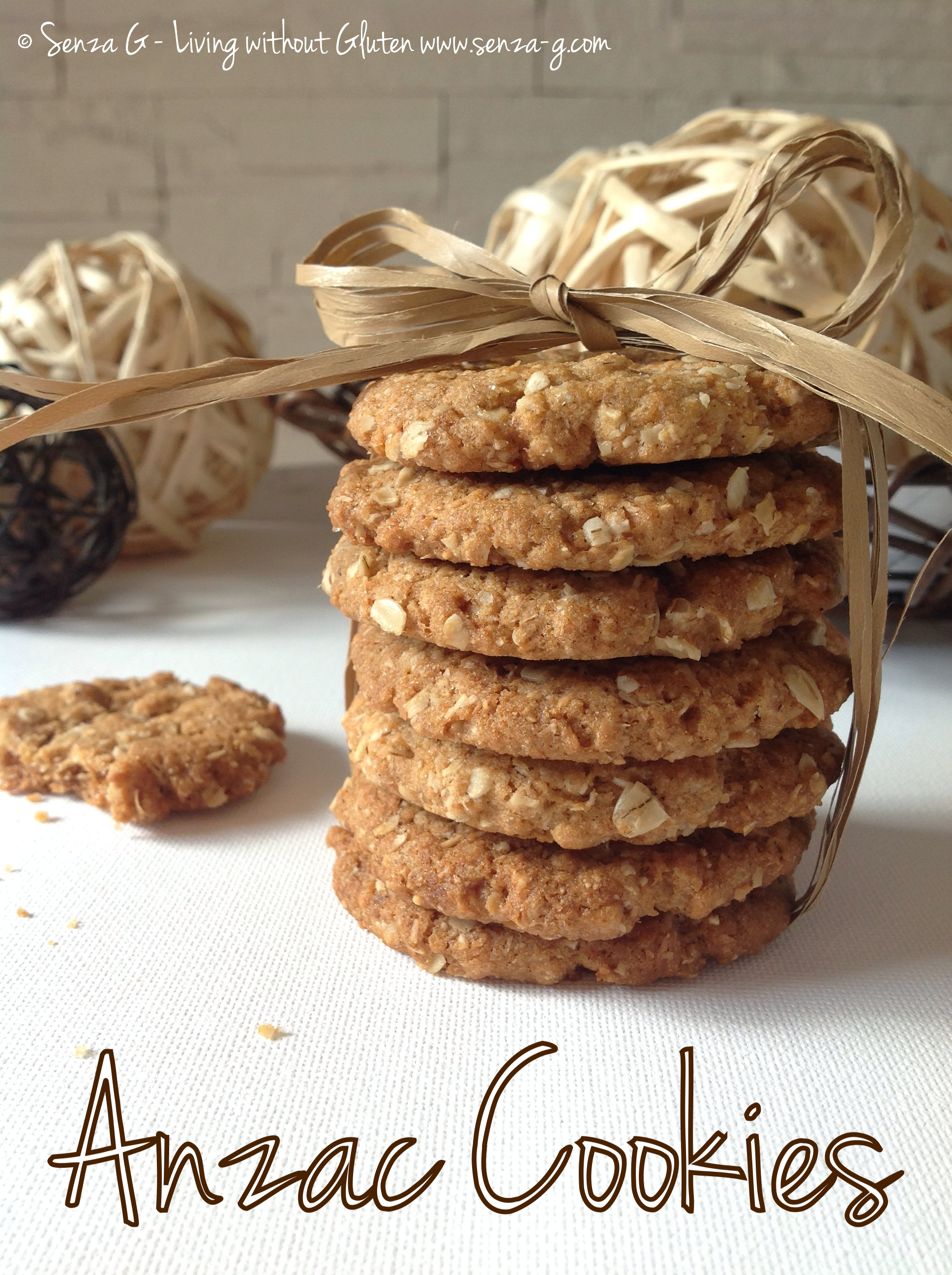 CRUNCHY YET CHEWY ANZAC COOKIES Senza-G