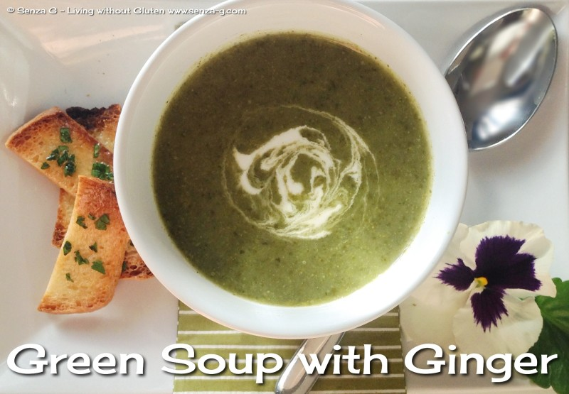 Green Soup With Ginger Recipe — Dishmaps